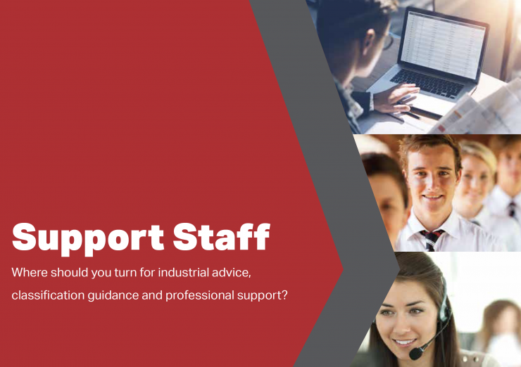 Support Staff Card